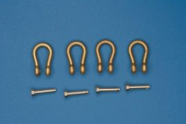Shackles (4 pcs)  Used in different military vehicles  drawing and dimensions