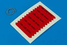 Remove before flight flags - IDF - black lettering - 1/32