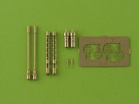 German aircraft machine gun MG 81and MG 81Z - turned barrels and etched sights (2pcs)