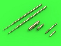 Míg-17A/P/F (Fresco A,B,C) 37 mm and 23 mm gun barrels set, pitot tube