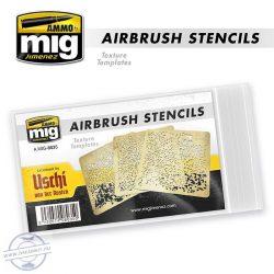 AIRBRUSH STENCILS TEXTURE TEMPLATES x 3 típus