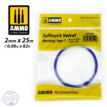 Softouch Velvet Masking Tape  - 2 mm x 25 méter