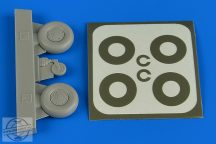 Bucker Bu 131  wheels & paint masks disc cover - 1/32