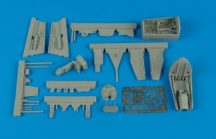 He 162A cockpit set and wheel bay - 1/48 -  Tamiya