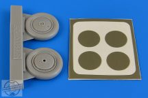 I-153 Chaika wheels & paint masks - 1/48 - ICM