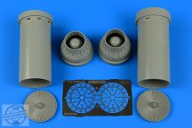 F-14A Tomcat exhaust nozzles - closed - 1/48 - Tamiya