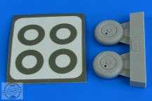 Spitfire Mk.I wheels (with covers) & paint masks - 1/48 - Tamiya