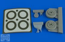 A-1J Skyraider wheels & paint masks - 1/48 - Tamiya