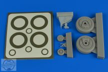 A-1H Skyraider wheels & paint masks - 1/48 - Tamiya