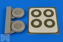 Beaufighter wheels (five spoke) & paint masks - 1/72 - Airfix