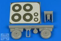 Wellington wheels & paint masks (late) - 1/72 - Airfix