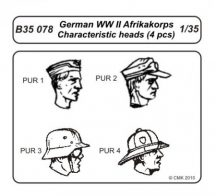 German WWII Afrikakorps-character.heads
