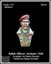 BRITISH AIRBORNE OFFICER, ARNHEM 1944 – MINIBUST - 1/15