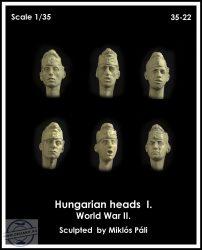 HUNGARIAN HEADS WWII SET I. - 1/35