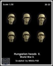 HUNGARIAN HEADS WWII SET II. - 1/35