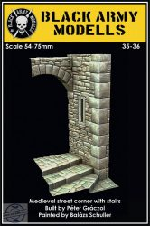 MEDIEVAL STREETCORNER WITH STAIRS -   1/35-1/24