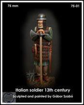 ITALIAN SOLDIER 13TH CENTURY - 75 mm