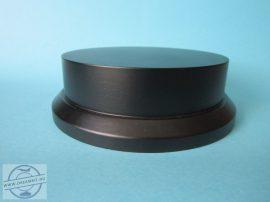 Makett-figura alap solid KEREK fekete, 12,5 cm