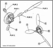 VDM for Bf-109E - German propeller WW II
