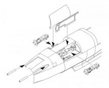 He 162A-2 Armament set for Tam. kit