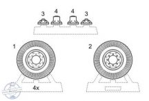 Chevrolet L.R.D.G 30 cwt - Wheels for Tamiya - 1/35