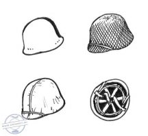 US WW II Helmets (6 pcs) - 1/35