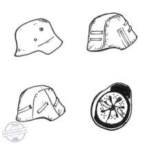 German WW II Helmets (6 pcs) - 1/35