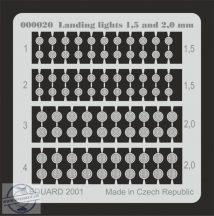 Landing lights 1,5 and 2mm - leszállólámpák