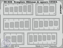 Template oblongs & square STEEL -  karcolósablon