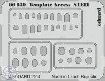 Template  Access  STEEL -  karcolósablon