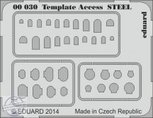 Template  Access  STEEL -  karcolósablon