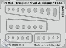 Template ovals & oblong STEEL -  karcolósablon