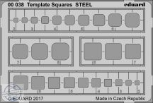 Template Squares STEEL -  karcolósablon