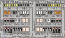 F-16 placards 1/32