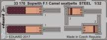 Sopwith F.1 Camel seatbelts STEEL 1/32 - Wingnut Wings