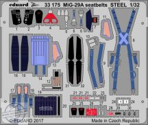 MiG-29A seatbelts STEEL - 1/32- Trumpeter