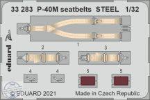 P-40M seatbelts STEEL - 1/32