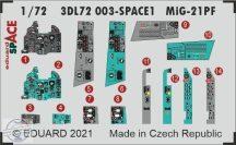 MiG-21PF SPACE + fotomaratott öv - 1/72 - Eduard