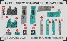 MiG-21PFM SPACE + fotomaratott öv - 1/72 - Eduard