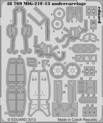 MiG-21F-13 undercarriage - 1/48 - Trumpeter