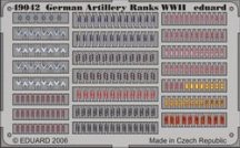 German Artillery Ranks WWII