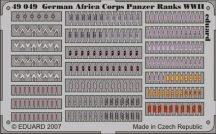 German Africa Corps Panzer Ranks WWII - 1/48