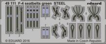 F-4 seatbelts green STEEL
