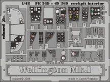 Wellington Mk.I cockpit interior- Trumpeter