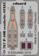 P-40B seatbelts STEEL