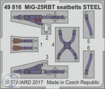 MiG-25RBT seatbelts STEEL - 1/48