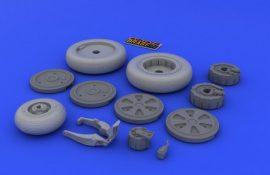 MiG-21 wheels - 1/48 - Eduard