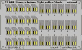 Remove Before Flight - yellow/black - 1/72