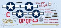 """P-51D-5 """"15th AF"""" - 1/32 - Matrica a képeken látható 5 géphez"""