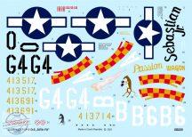 """P-51D-5 """"357th FG"""" - 1/32 - Matrica a képeken látható 5 géphez"""